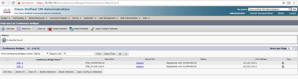 CUCM web admin - conf bridge.png